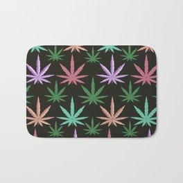 Marijuana Muted Colors Bath Mat