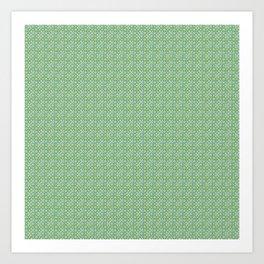 bulles vertes Art Print