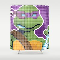 teenage mutant ninja turtles Shower Curtains featuring Teenage Mutant Ninja Turtles - Donatello by James Brunner