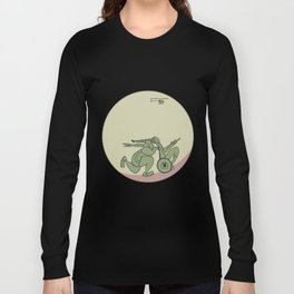 Use Your Skills - Pea Green Long Sleeve T-shirt