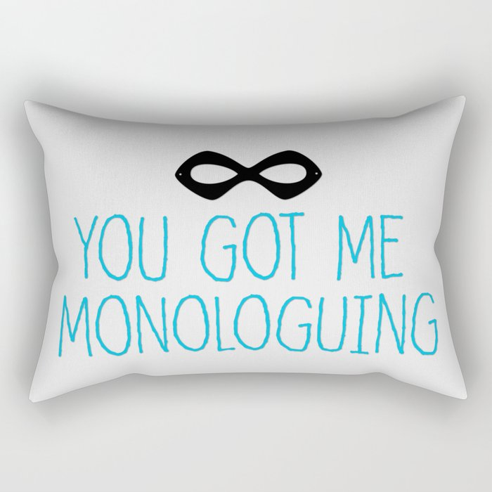 Syndrome Monologuing Rectangular Pillow