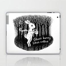 Ghost bunny likes coffee Laptop & iPad Skin