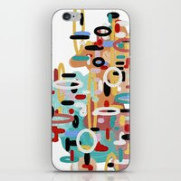 mid century iPhone & iPod Skins featuring Mid Century One by Tina Carroll