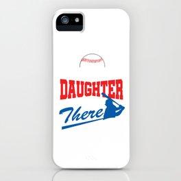 Players Ball Pitcher Softball Game League Granddaughter Baseball Gift iPhone Case