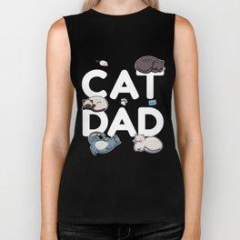 Cat Dad - Cat Cats Man Papa Pussycat Meow Biker Tank