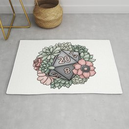 Succulent D20 Tabletop RPG Gaming Dice Rug