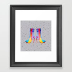 The Elisavet's Painted Boots | Kids painting |Fashion Design Framed Art Print
