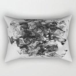 women and smoke, black and white Rectangular Pillow