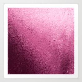Modern abstract burgundy red pink gradient design Art Print