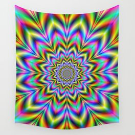 Psychedelic Flower Wall Tapestry