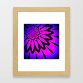 The Modern Flower Fuchsia Purple Ombre Framed Art Print
