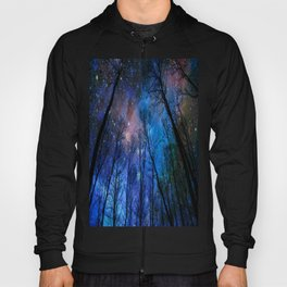Black Trees Dark Blue Space Hoody