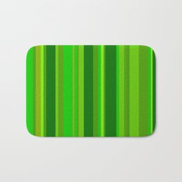 Green Stripes Bath Mat
