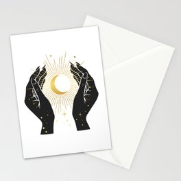 Gold La Lune In Hands Stationery Cards