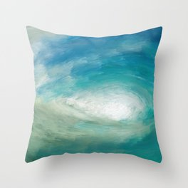 Wild Wave - Clear Sea Throw Pillow