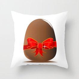 Chocolate Easter Egg Throw Pillow