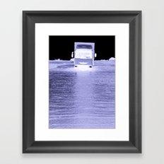 Intrepid Trucker Framed Art Print