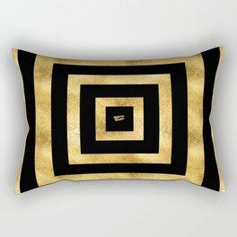 ART DECO SQUARES BLACK AND GOLD #minimal #art #design #kirovair #buyart #decor #home Rectangular Pillow