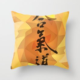 Aikido Kanji Art Throw Pillow