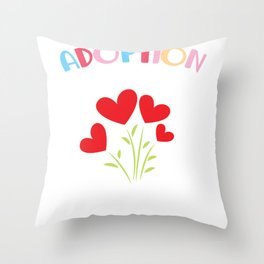 Newborn Adoption Animal rescue adoptive Family Throw Pillow