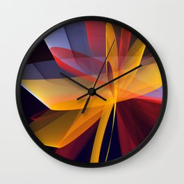 Transparent foldings, modern colourful abstract Wall Clock