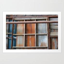 Rusty Blue Art Print