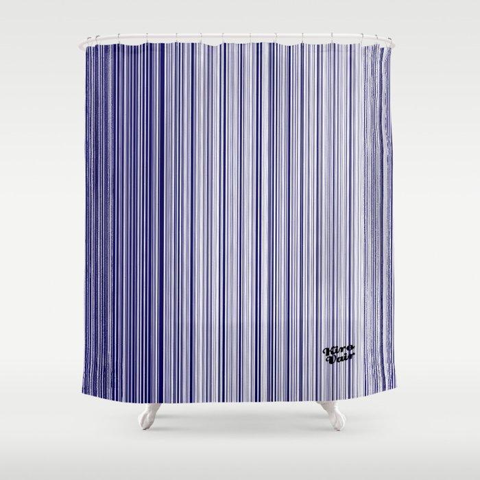 Blues Interrupted #kirovair #design #minimal #society6 #buyart #blue Shower Curtain