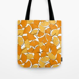 ginkgo leaves (orange) Tote Bag