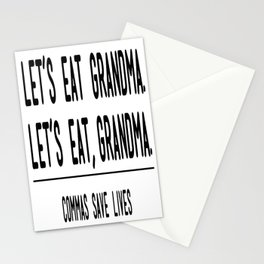 Let's Eat Grandma - Commas Save Lives Stationery Cards
