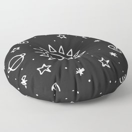 Planets Hand Drawn Floor Pillow