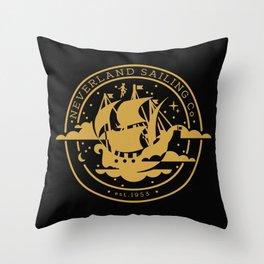 Neverland Sailing Co. Throw Pillow
