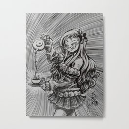 Manga Tea Metal Print