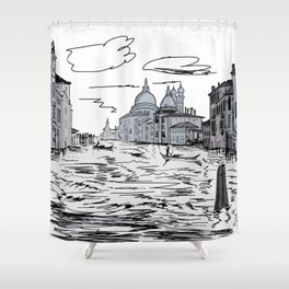 Venice City on the Water . Home Decor, Graphic Design Shower Curtain