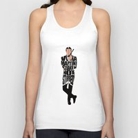 bond Tank Tops featuring James Bond by Ayse Deniz