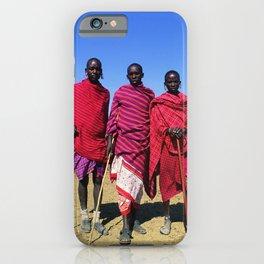 3 African Men from the Maasai Mara iPhone Case