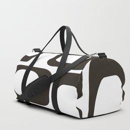 Mid Century Modern Shapes Black And White #society6 #buyart Duffle Bag