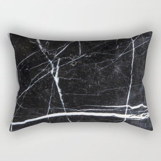 Black Marble Rectangular Pillow