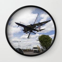 British Airways Boeing 747 London Heathrow Wall Clock