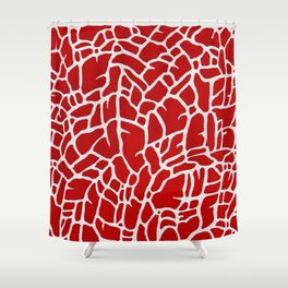Riff on Red Shower Curtain