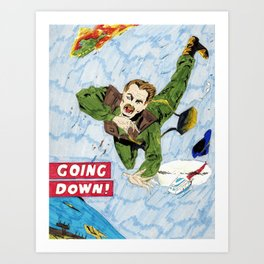 Going Down Art Print