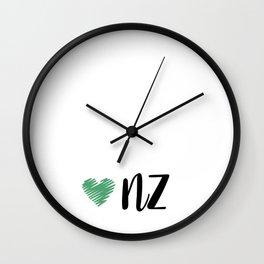 Love new zealand Wall Clock