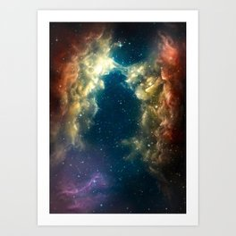 Digital Space 1: The Bridge Art Print