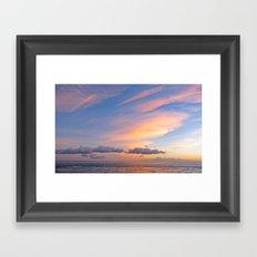 Sherbet Sunset Framed Art Print