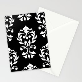 Heart Damask Pattern (B) WB Stationery Cards