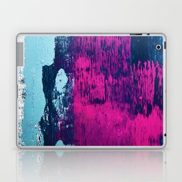 Early Bird: A vibrant minimal abstract piece in blues and pink by Alyssa Hamilton Art Laptop & iPad Skin