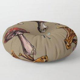 Woodland Mushrooms Floor Pillow