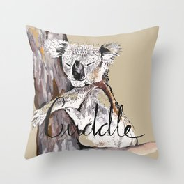 koala cuddle Throw Pillow