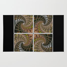 Abstract Nature Swirl Tiles Rug