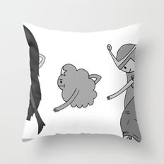Adventure Time: Marceline, Princess Bubblegum, & LSP: Single Ladies of Ooo Throw Pillow