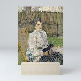 Lady with a Dog Mini Art Print